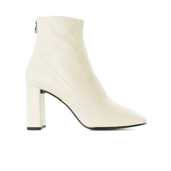Devika Off White Leather Boots