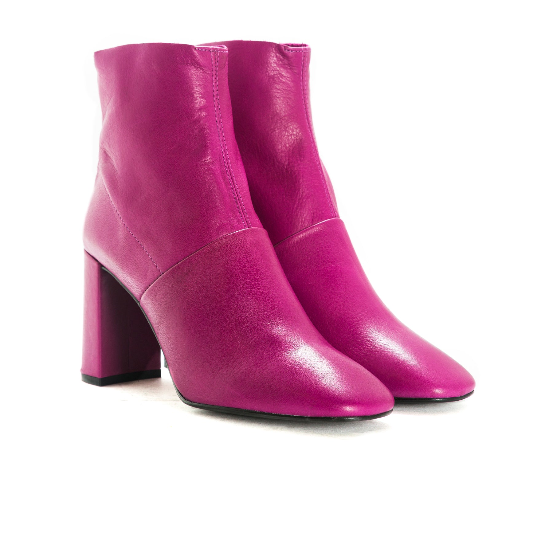 Devika Pink Leather Boots