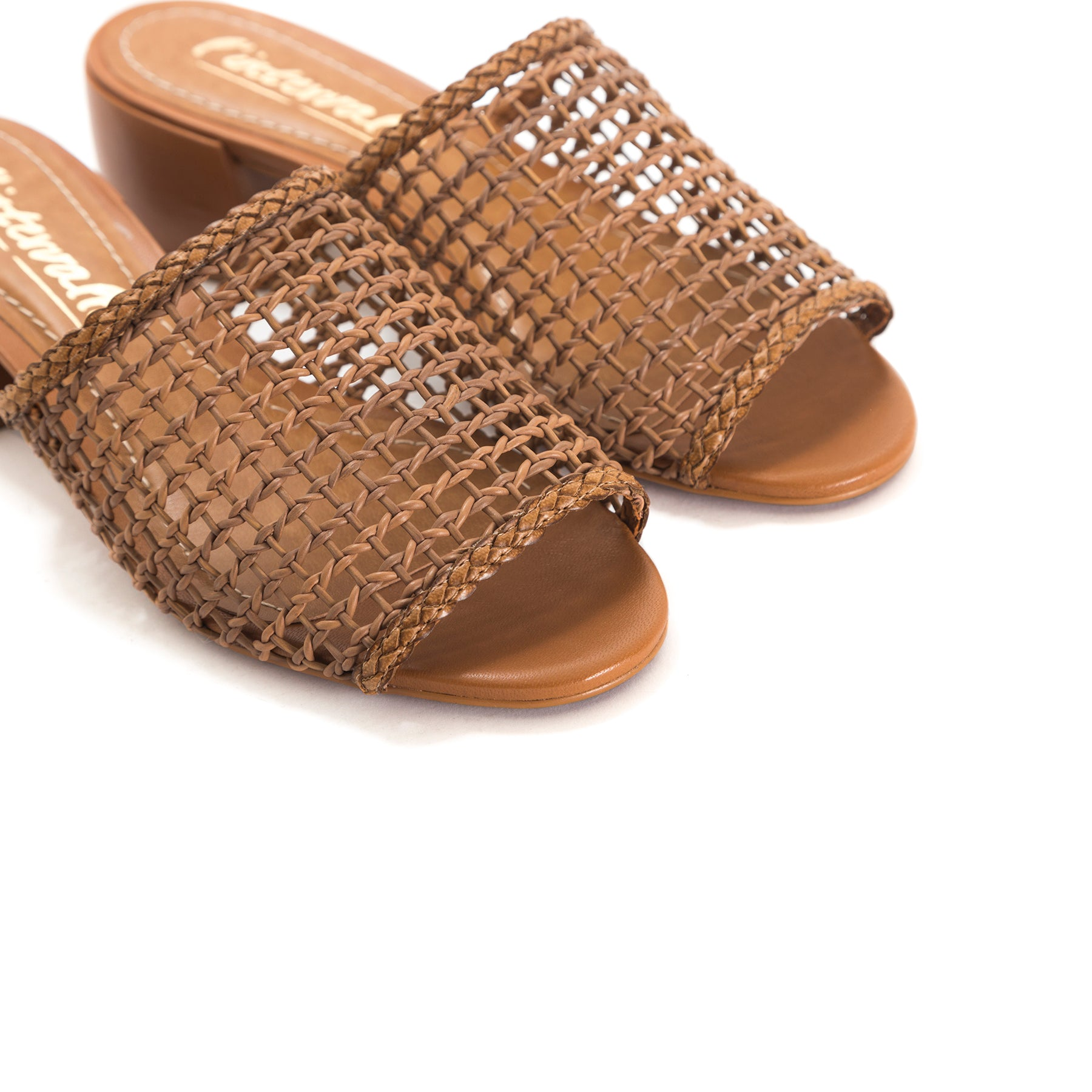 Dia Chesnut Leather Sandals
