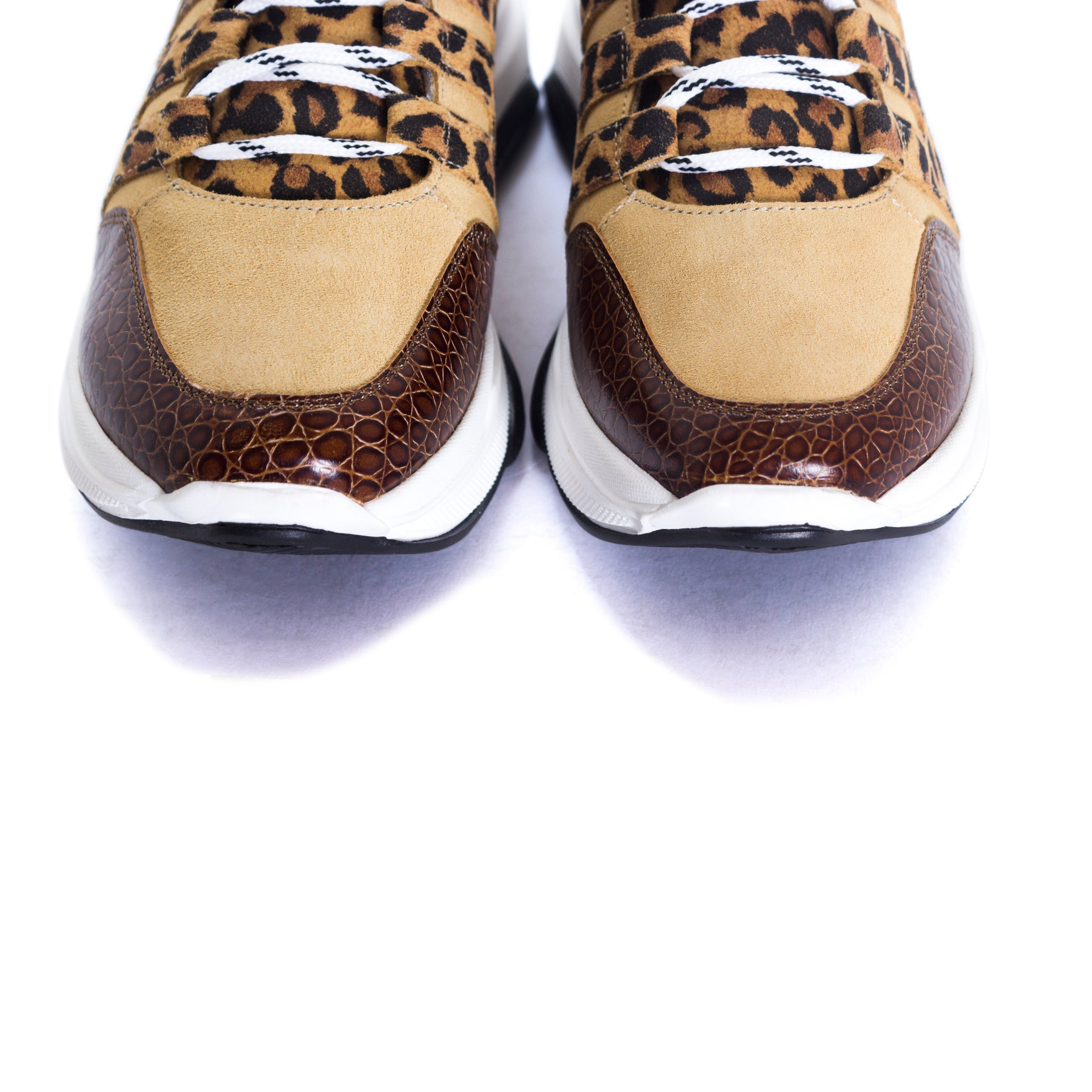 Dolphin Tan Combo Leather Sneakers