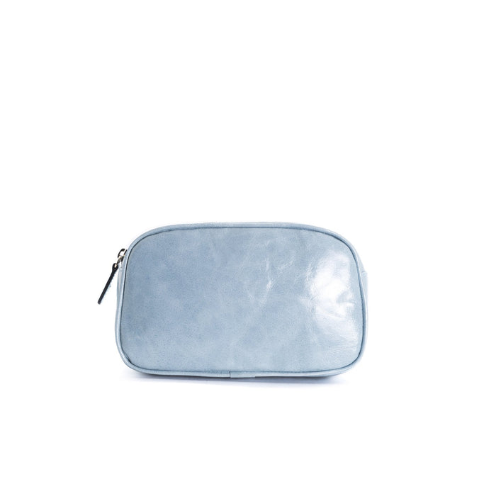 Eda Blue Leather Belt Bag