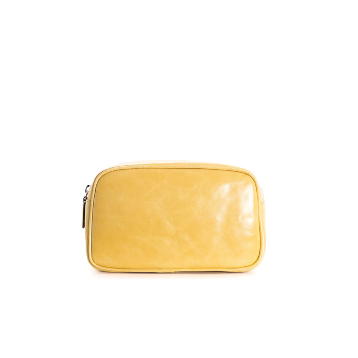 Eda Mustard Leather Belt Bag