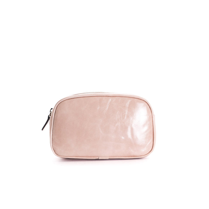 Eda Pink Leather Belt Bag