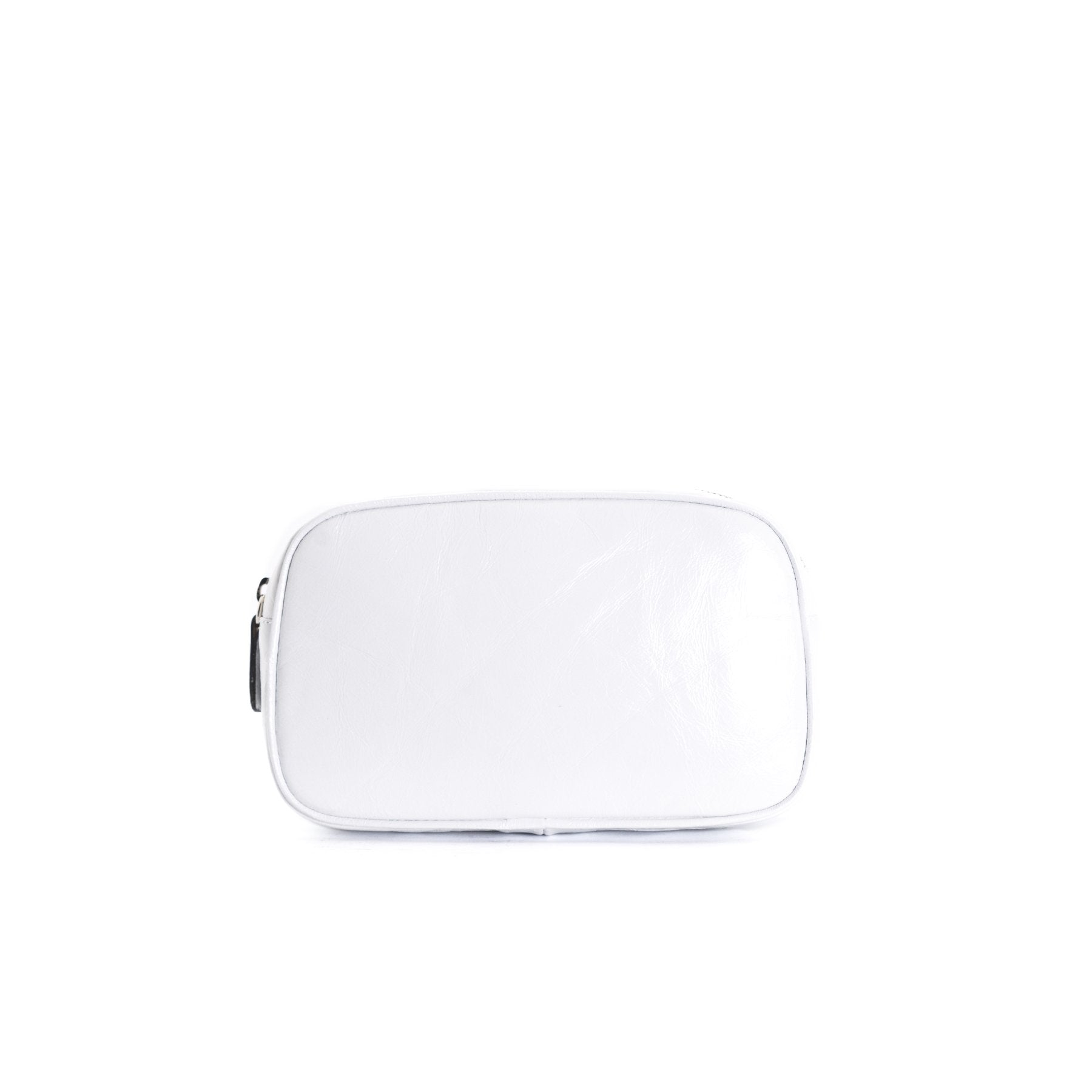 Eda White Leather Belt Bag