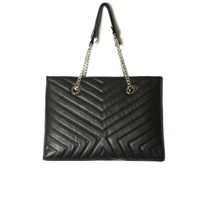 Edith Black Leather Shoulder Bag