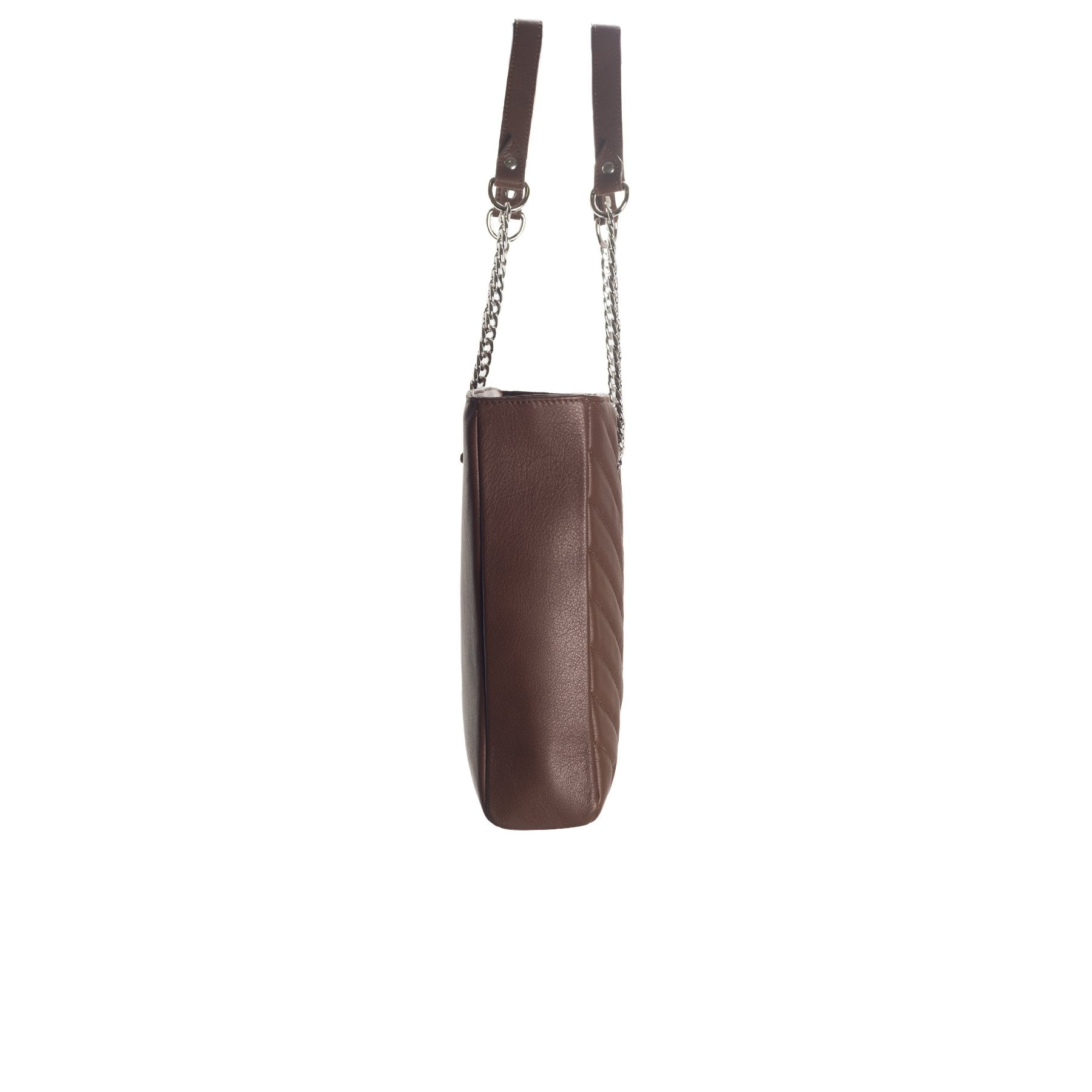 Edith Brown Leather Shoulder Bag