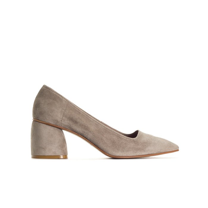 Effy Grey Suede Pumps