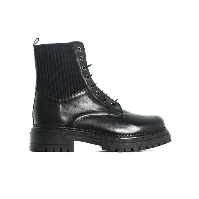 Elias Black Leather Boots