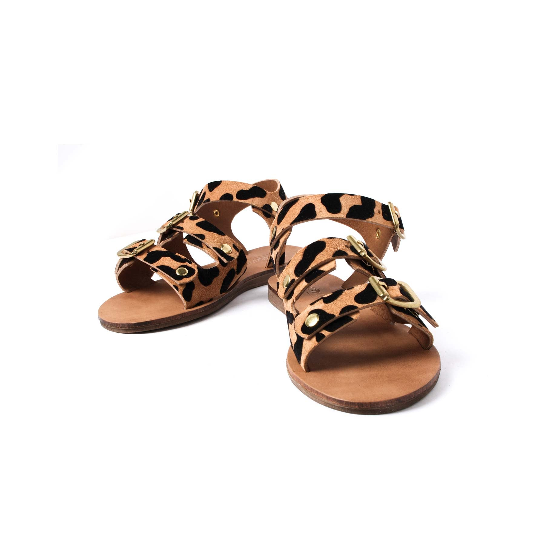 Sandals, Elizabeth Leopard Suede - Lintervalle shoes for woman