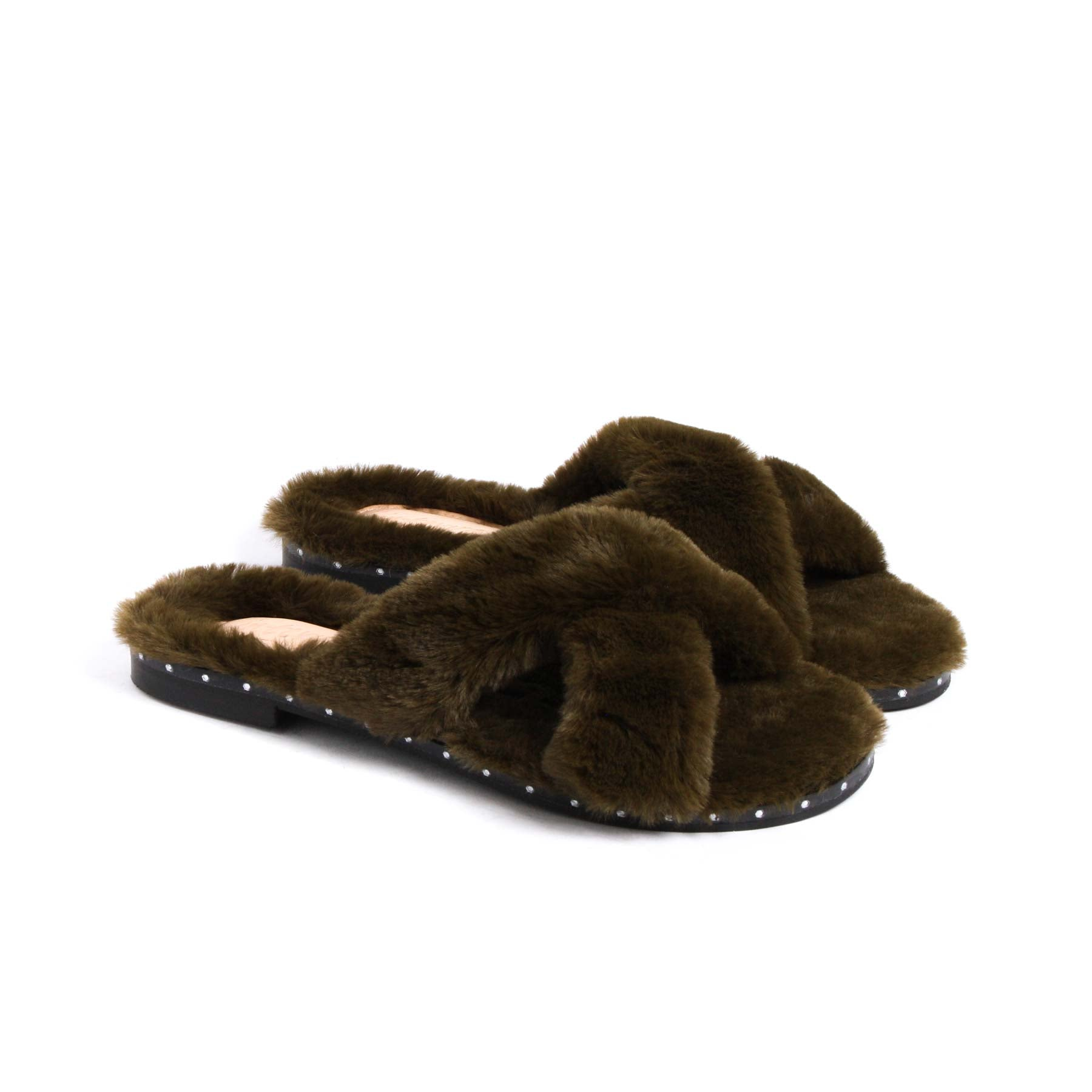 Sales, Eliza Green Fur - Lintervalle shoes for woman
