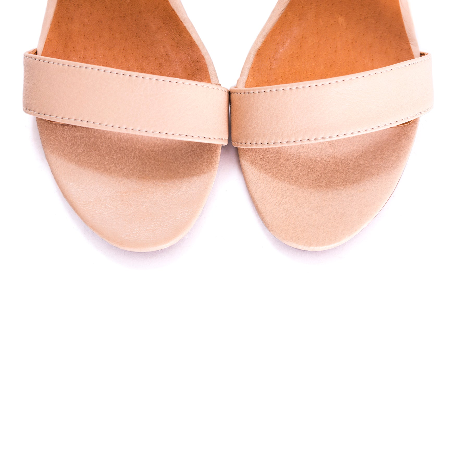 Eliza Pink Leather Sandals