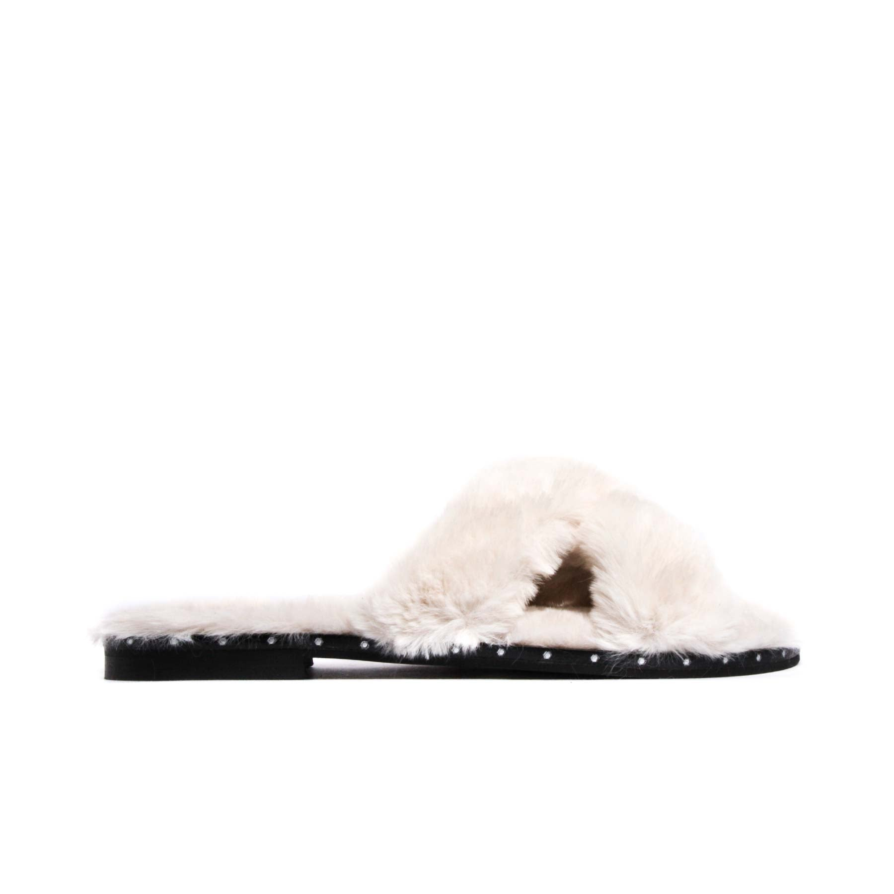 Sales, Eliza White Fur - Lintervalle shoes for woman