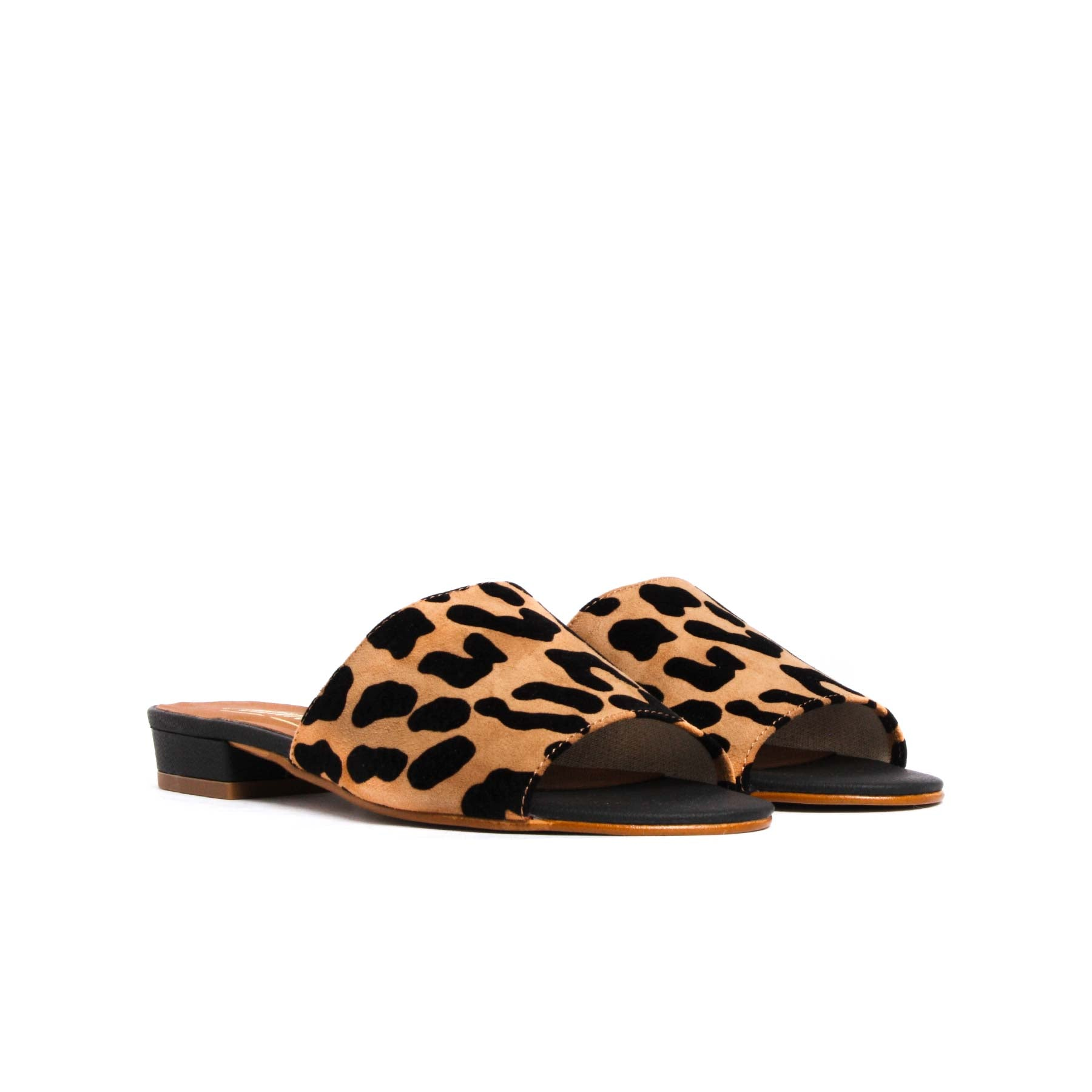 Sandals, Elma Leopard Suede - Lintervalle shoes for woman