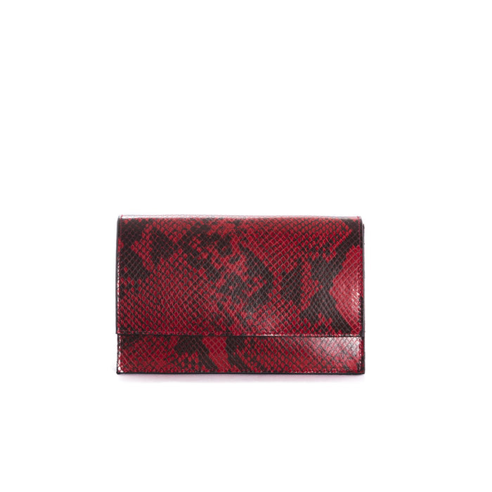 Elora Red Snake Shoulder Bags