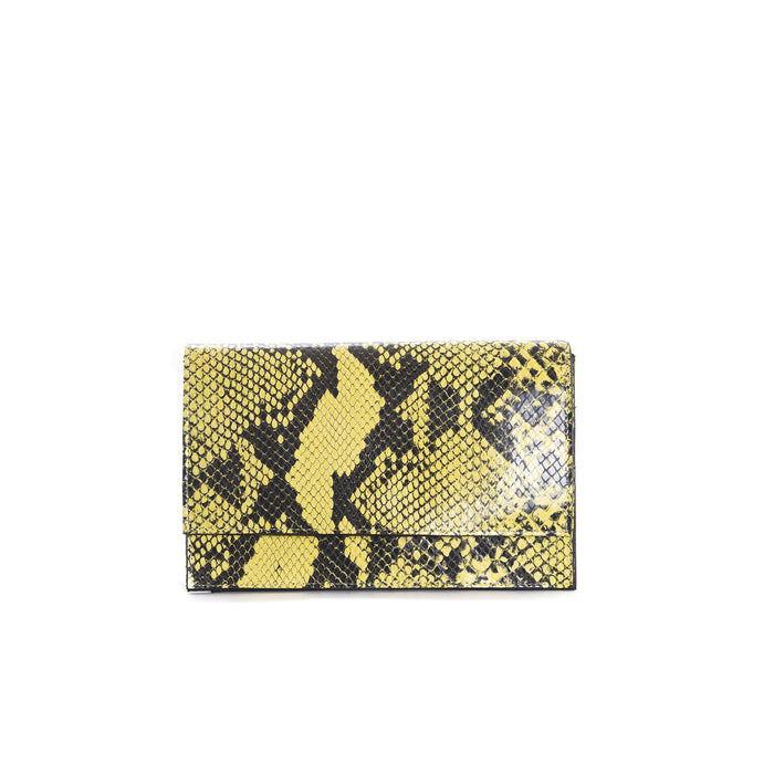 Elora Yellow Snake Shoulder Bags