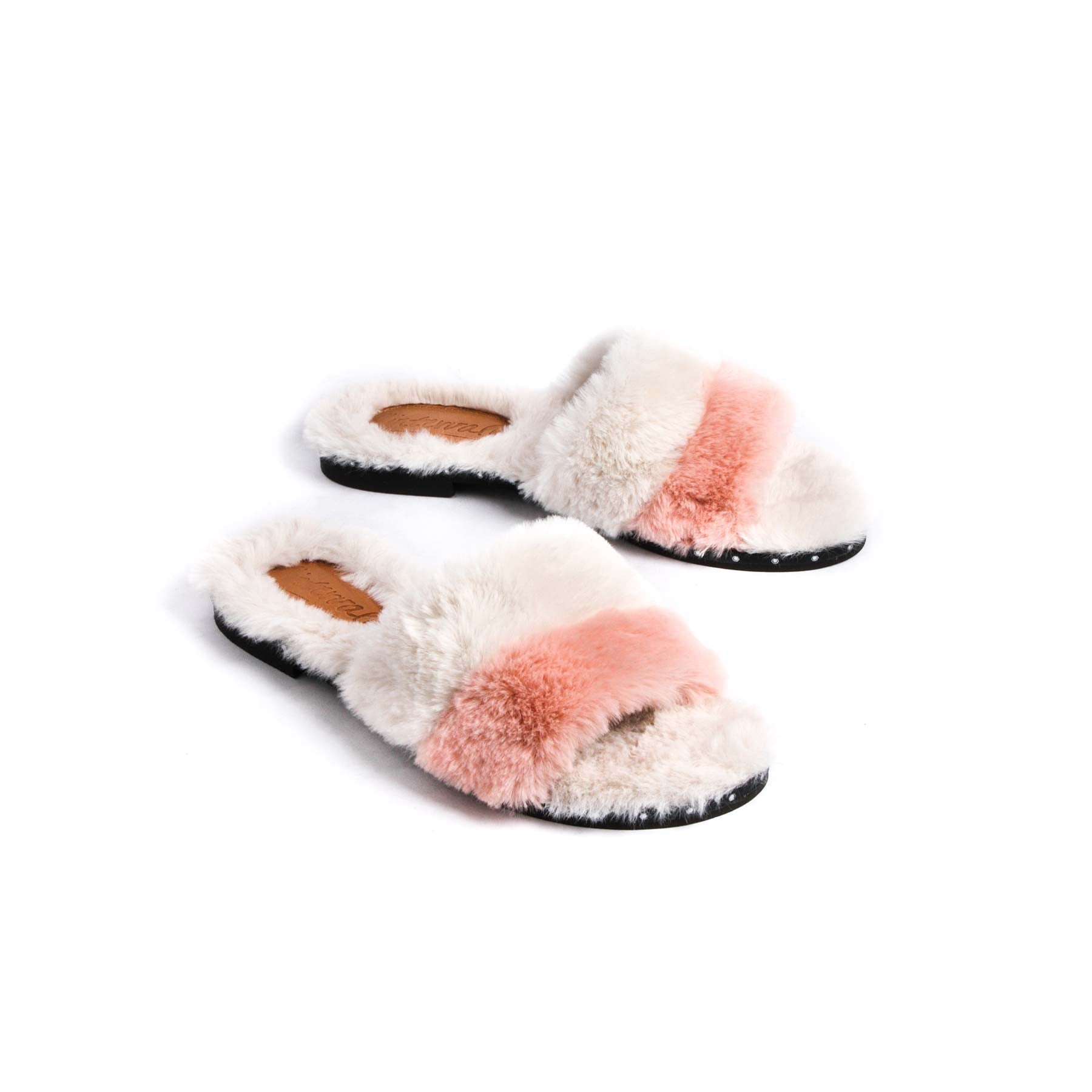 Sales, Esther Pink & White Fur - Lintervalle shoes for woman