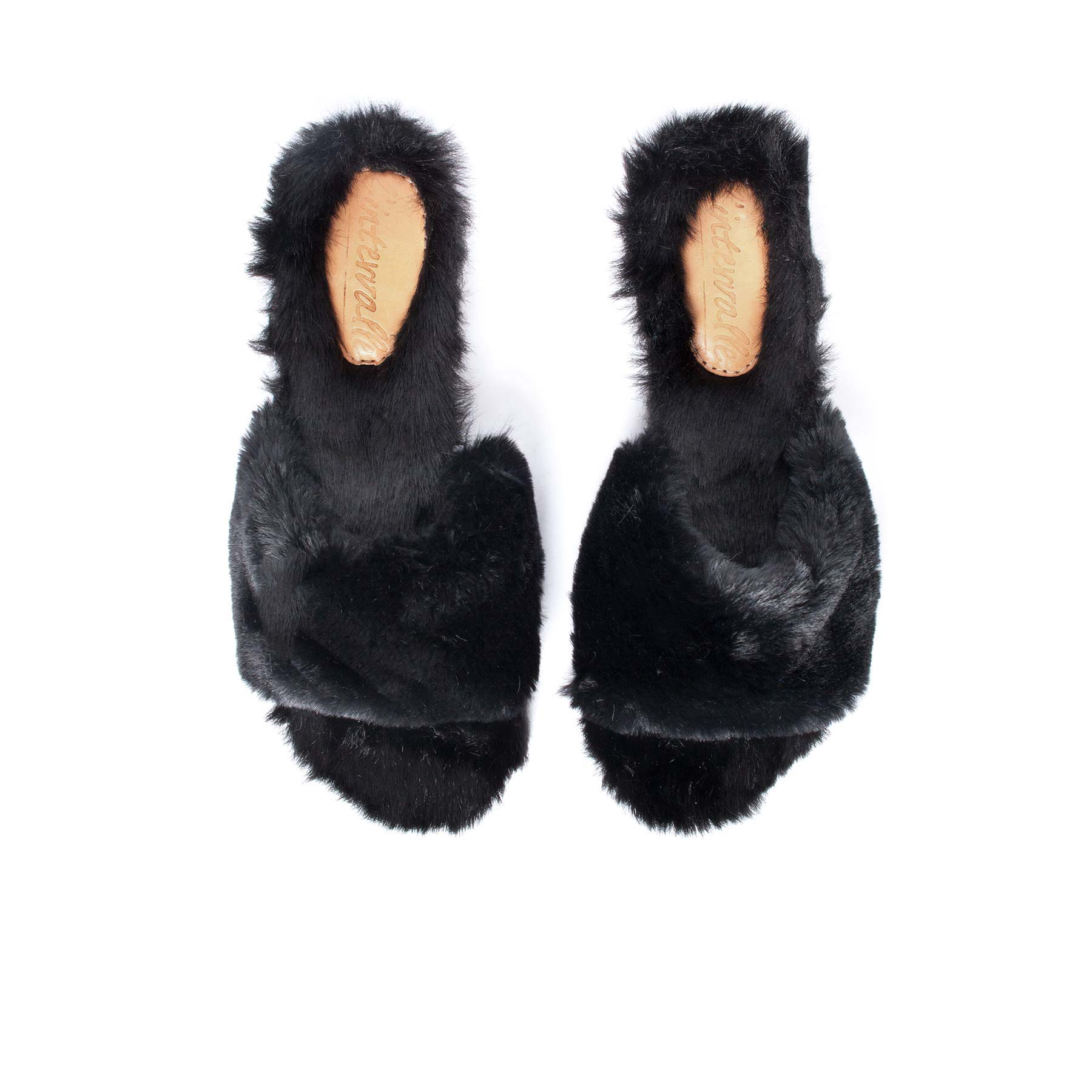 Sales, Eva Black Fur - Lintervalle shoes for woman