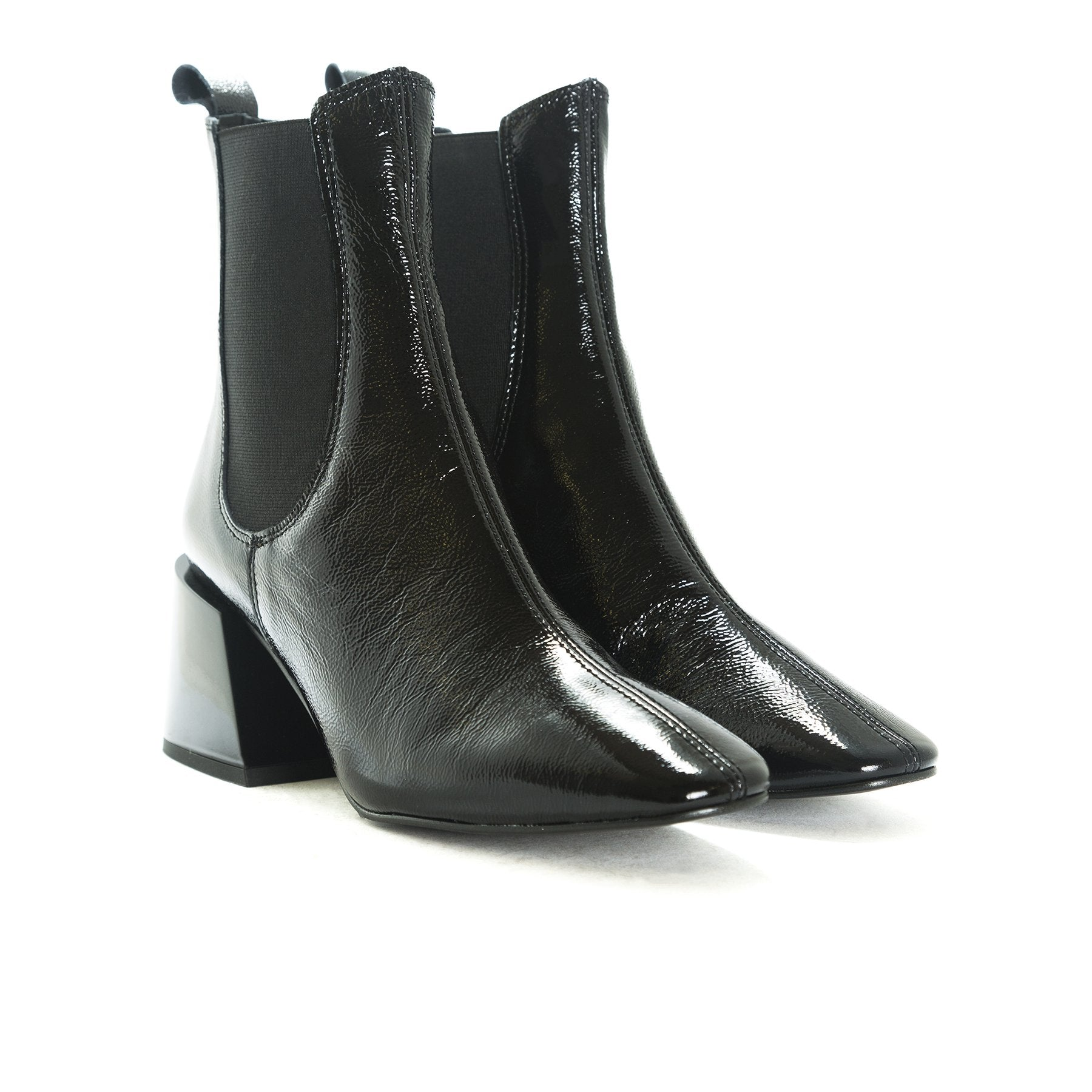 Fawn Black Naplack Boots
