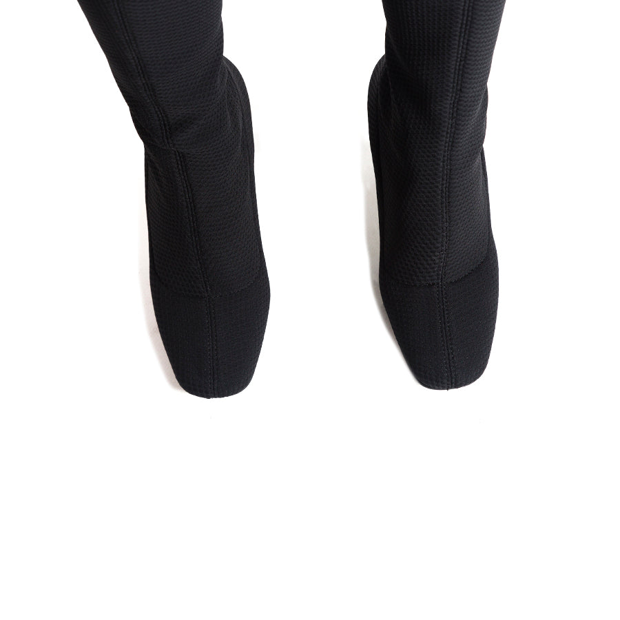 Galini Black Fabric Boots