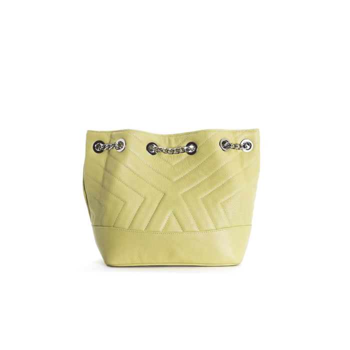 Ginette Green Leather Shoulder Bags