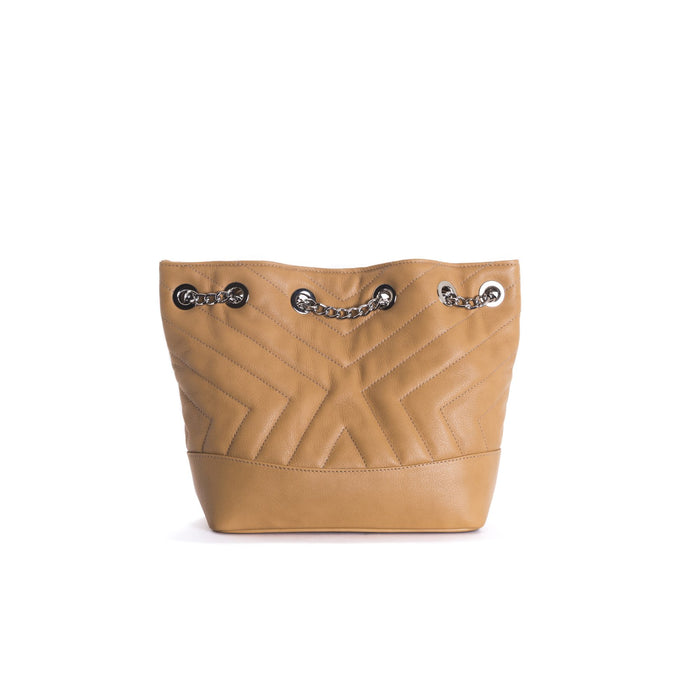 Ginette Tan Leather Shoulder Bags