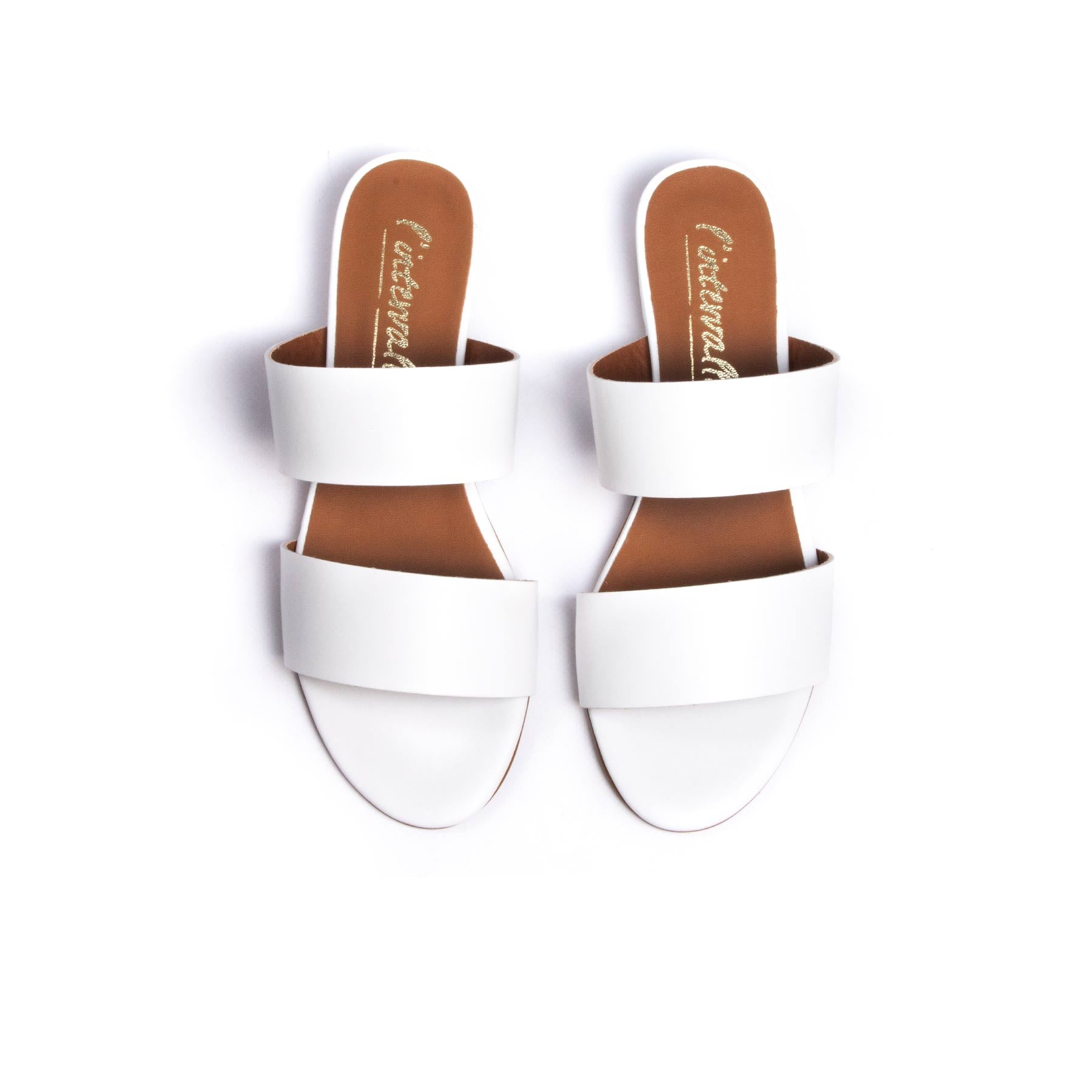 Giselle White Leather