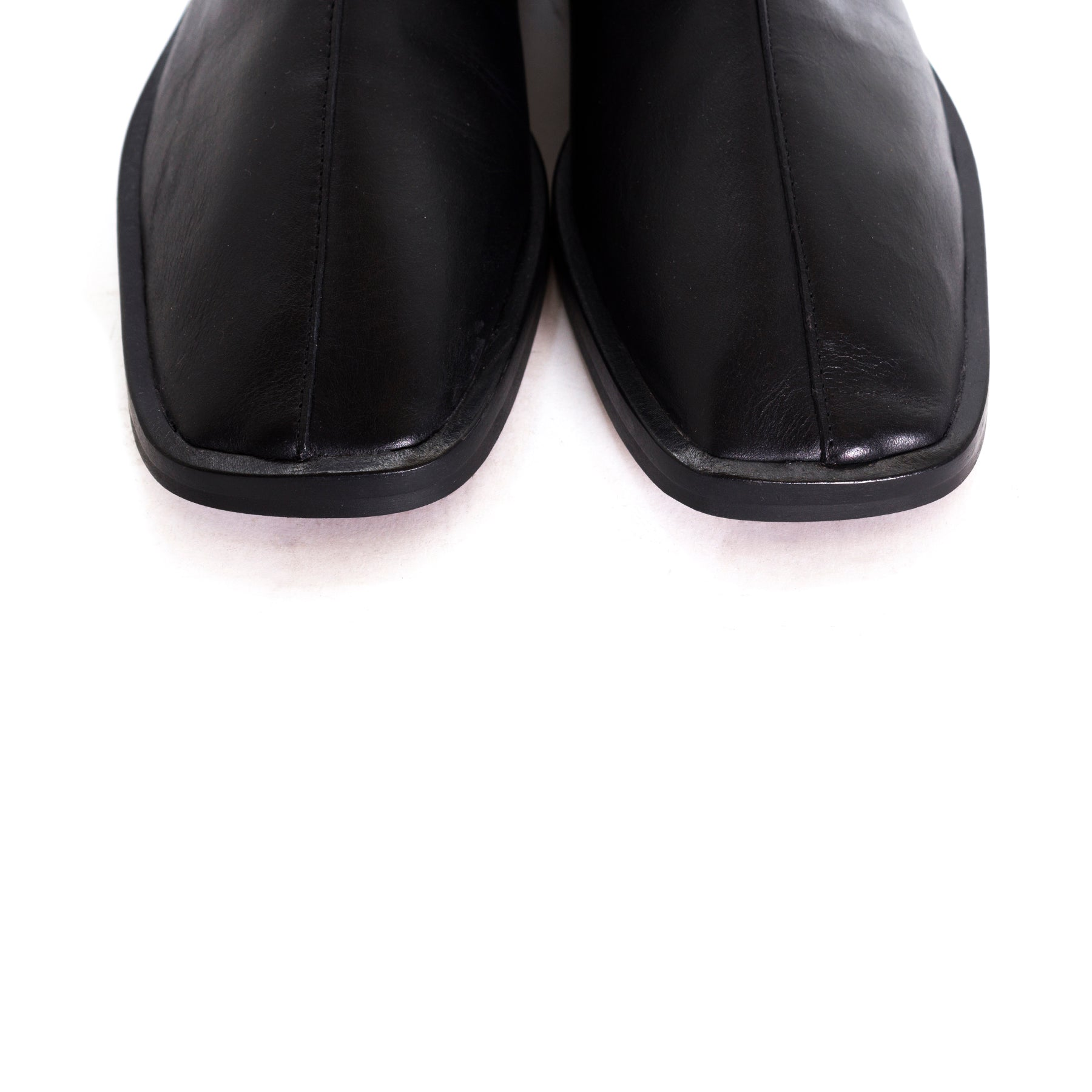 Goss Black Leather Booties