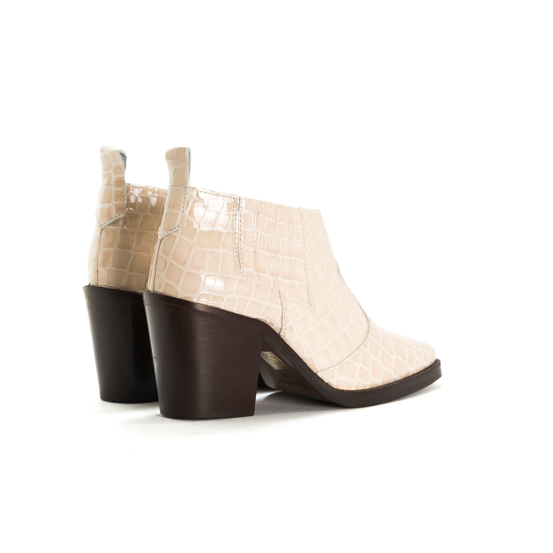 Grace Nude Croco Booties