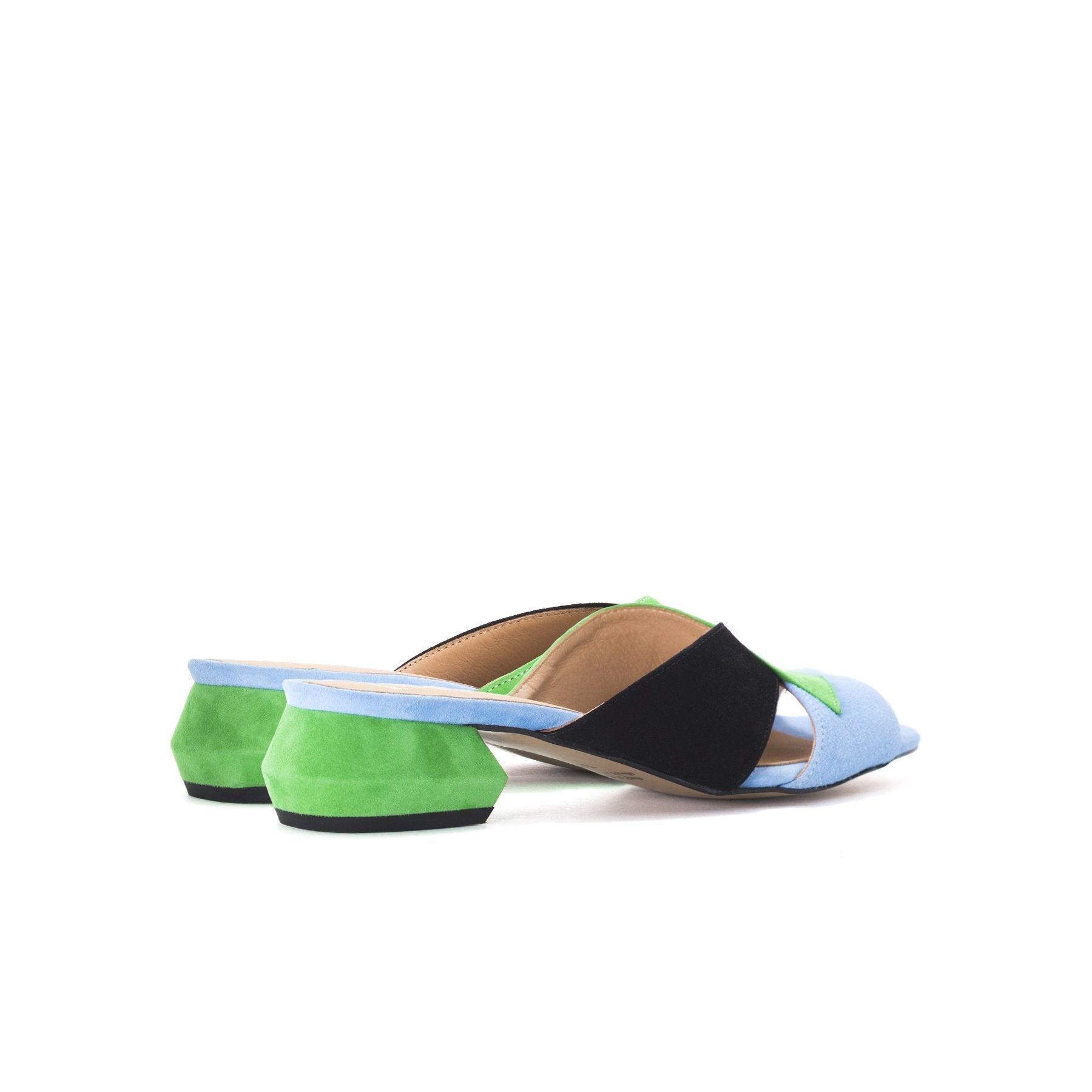 Gracie Multi Suede Sandals