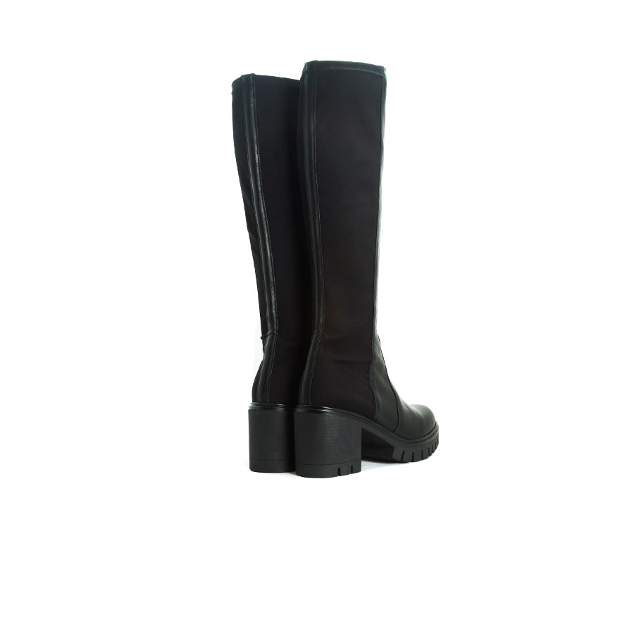 Hanis Black Leather/Stretch Boots