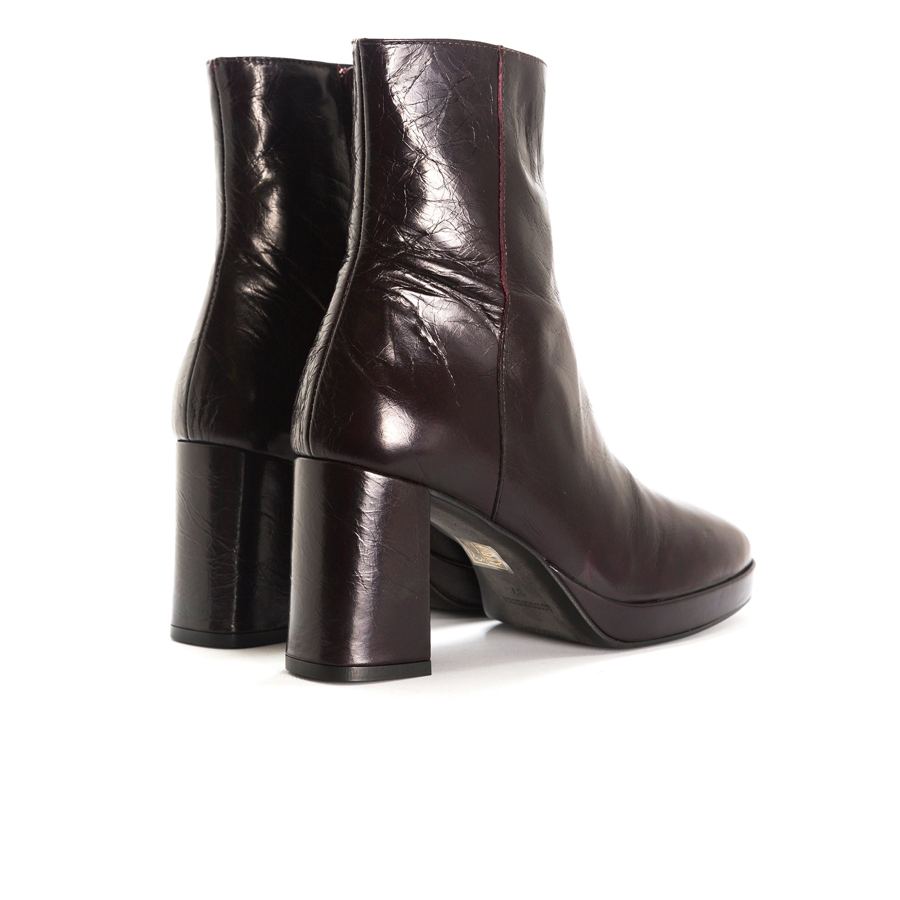 Henessey Bordo Leather Booties