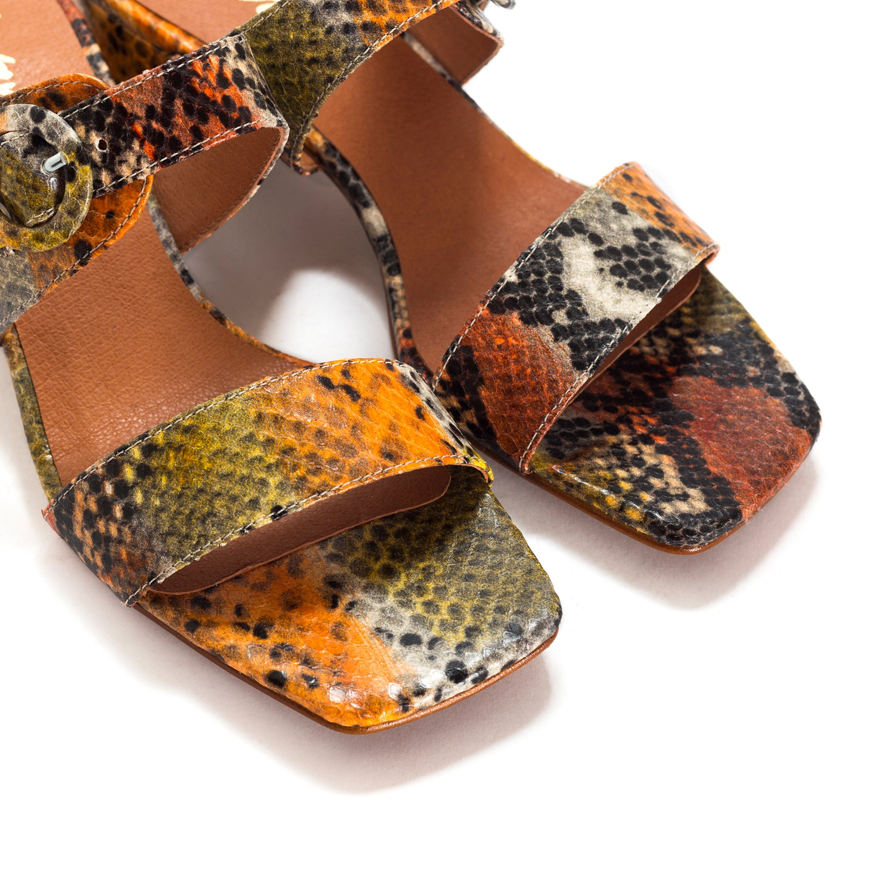 Hiran Multi Snake Leather Sandals