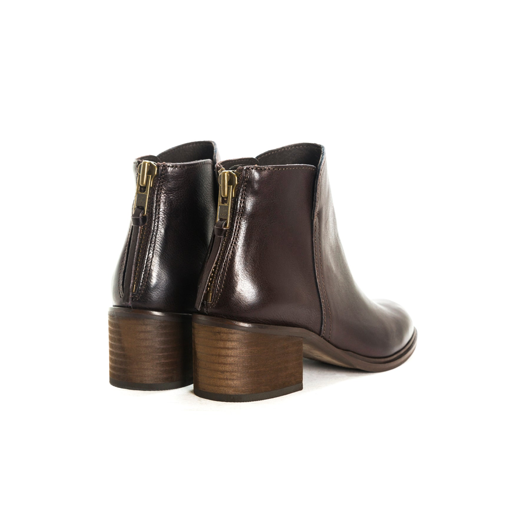 Houston Brown Leather Ankle Boots