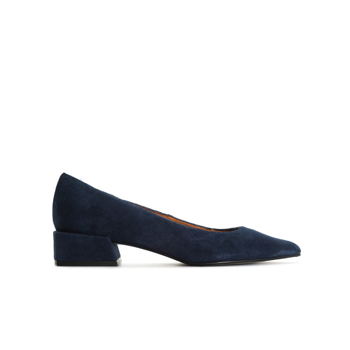 Ingrid Navy Suede Shoes