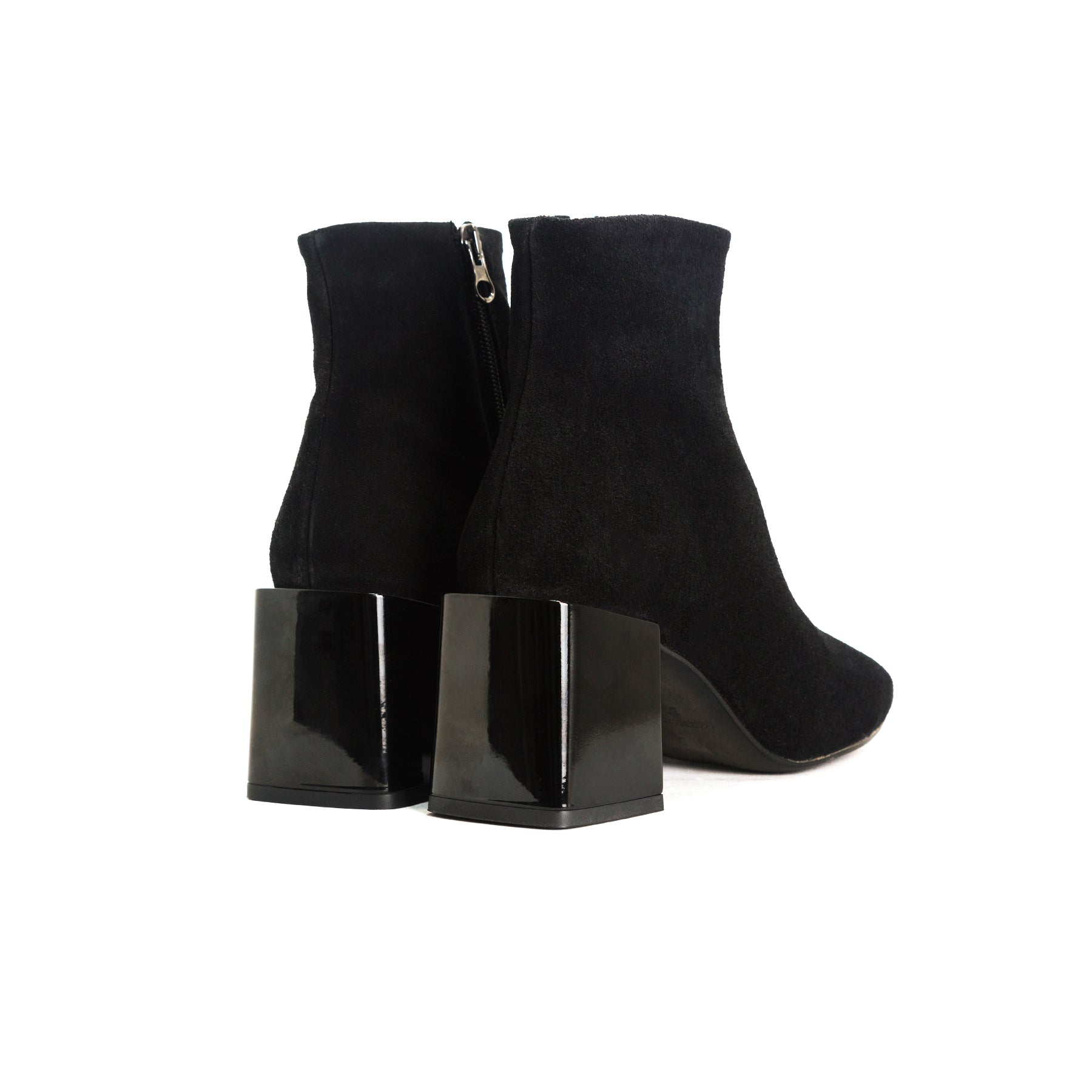 Ithaca Black Suede Booties
