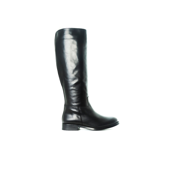 Fane Black Leather Boots