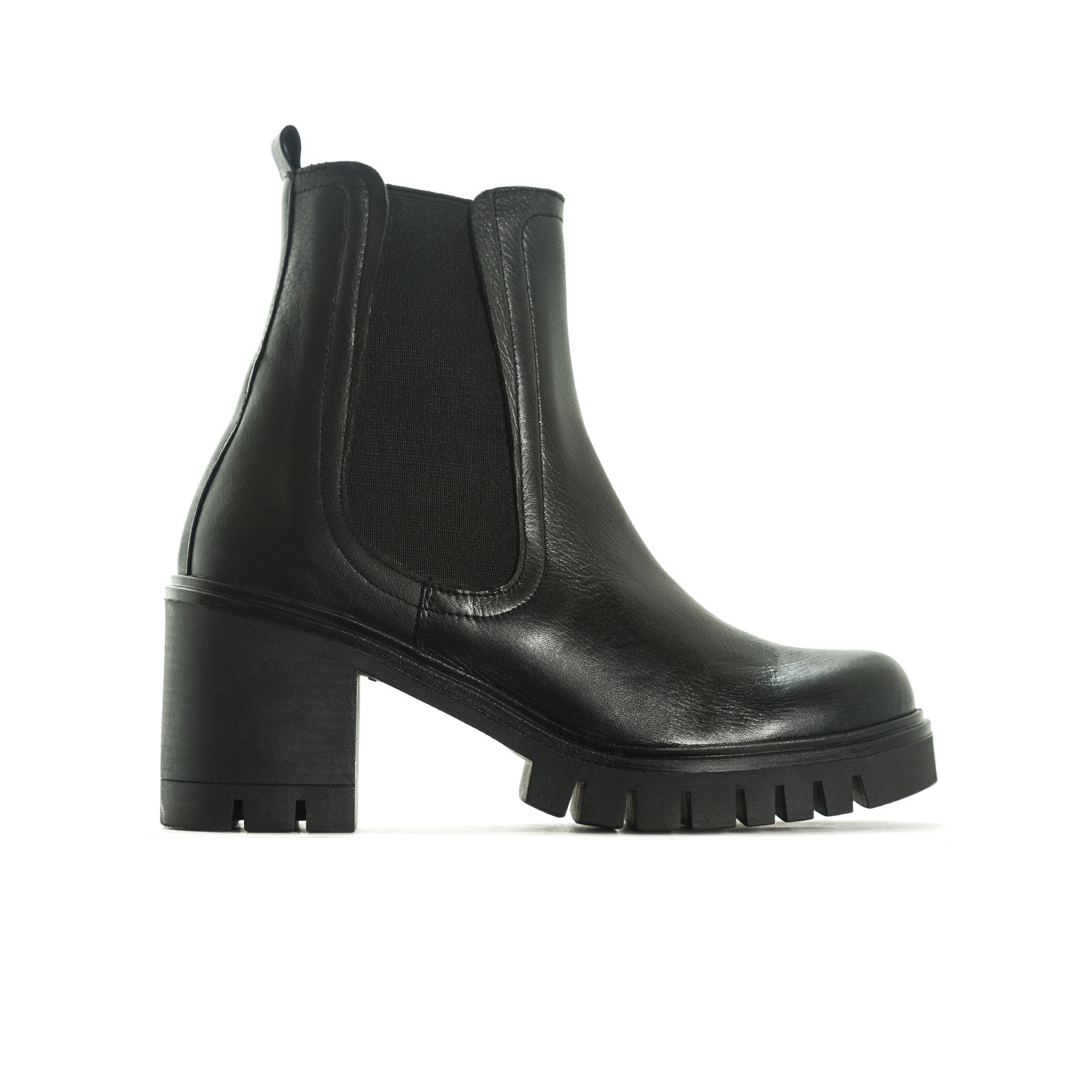 Jasper Black Leather Boots