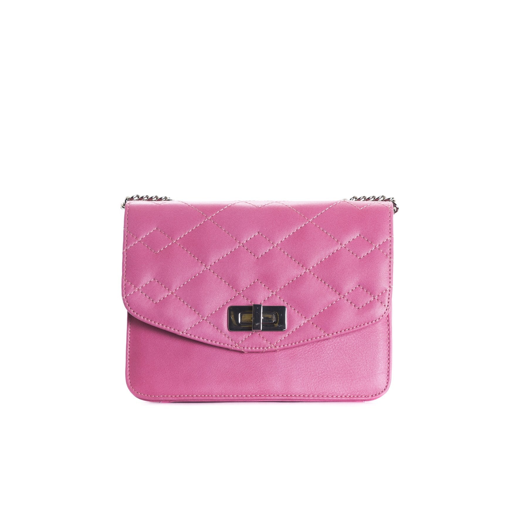 Joelle Fuchsia Leather Shoulder Bags