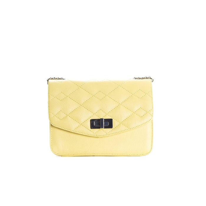 Joelle Yellow Leather Shoulder Bags