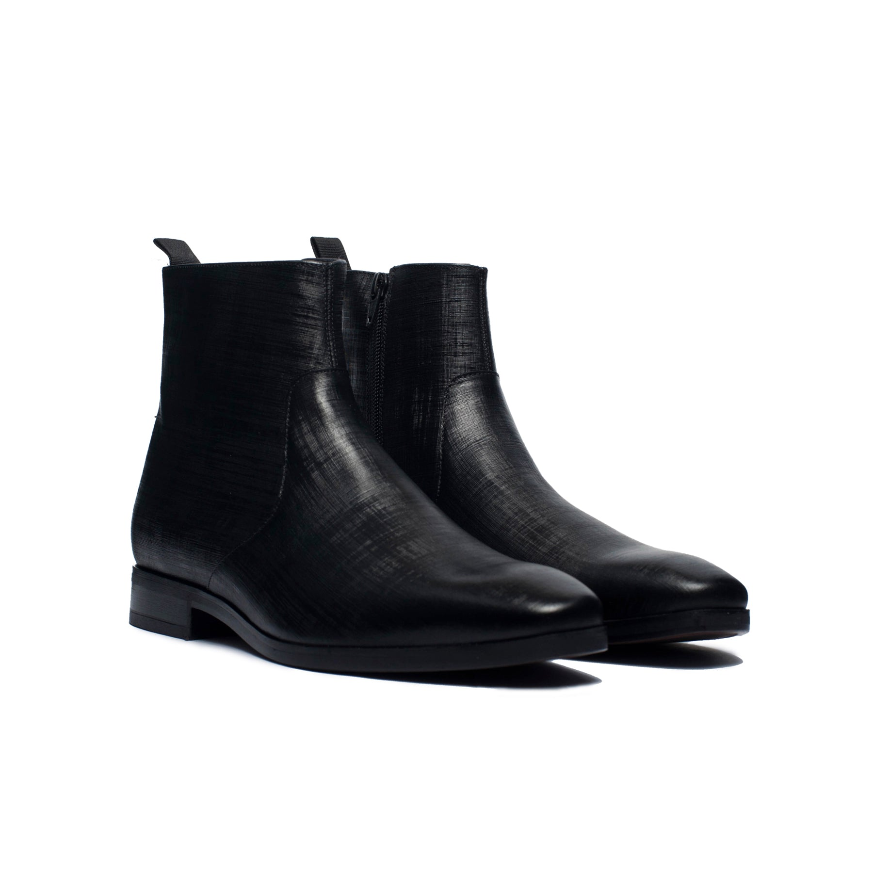 John Black Leather Boots