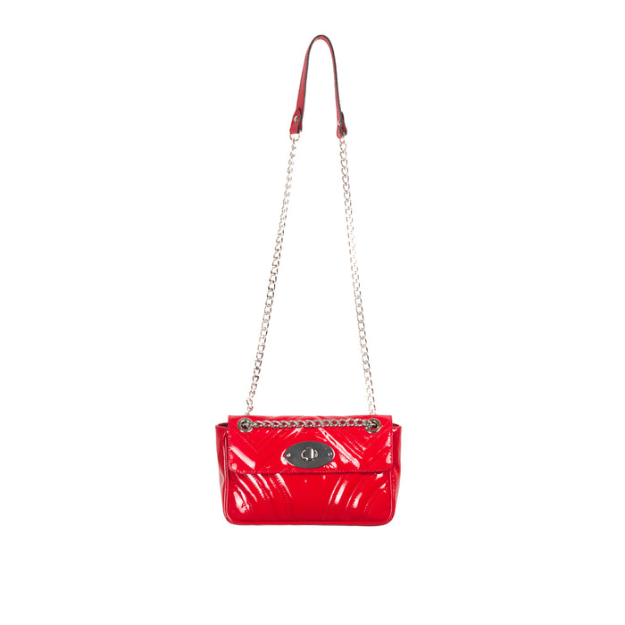 Juliet Red Patent Shoulder Bags