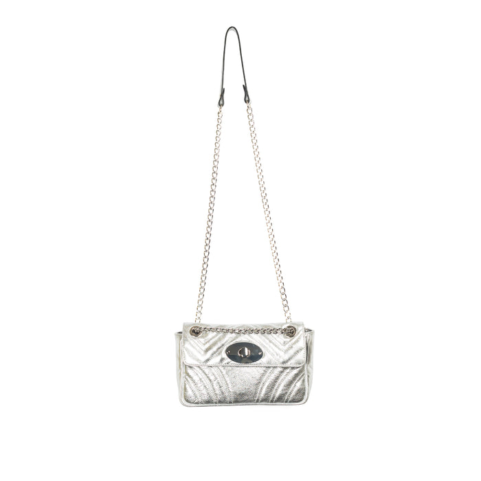 Juliet Silver Leather Shoulder Bags