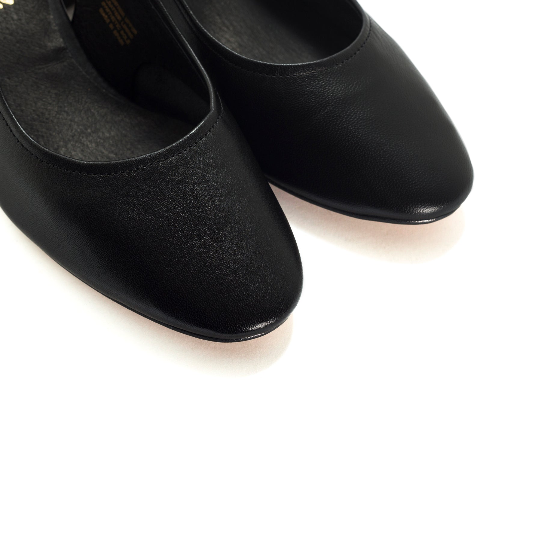 Juros Black Leather Pumps