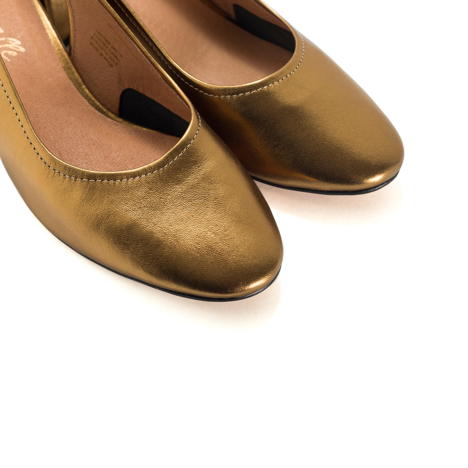 Juros Bronze Metallic Leather Pumps