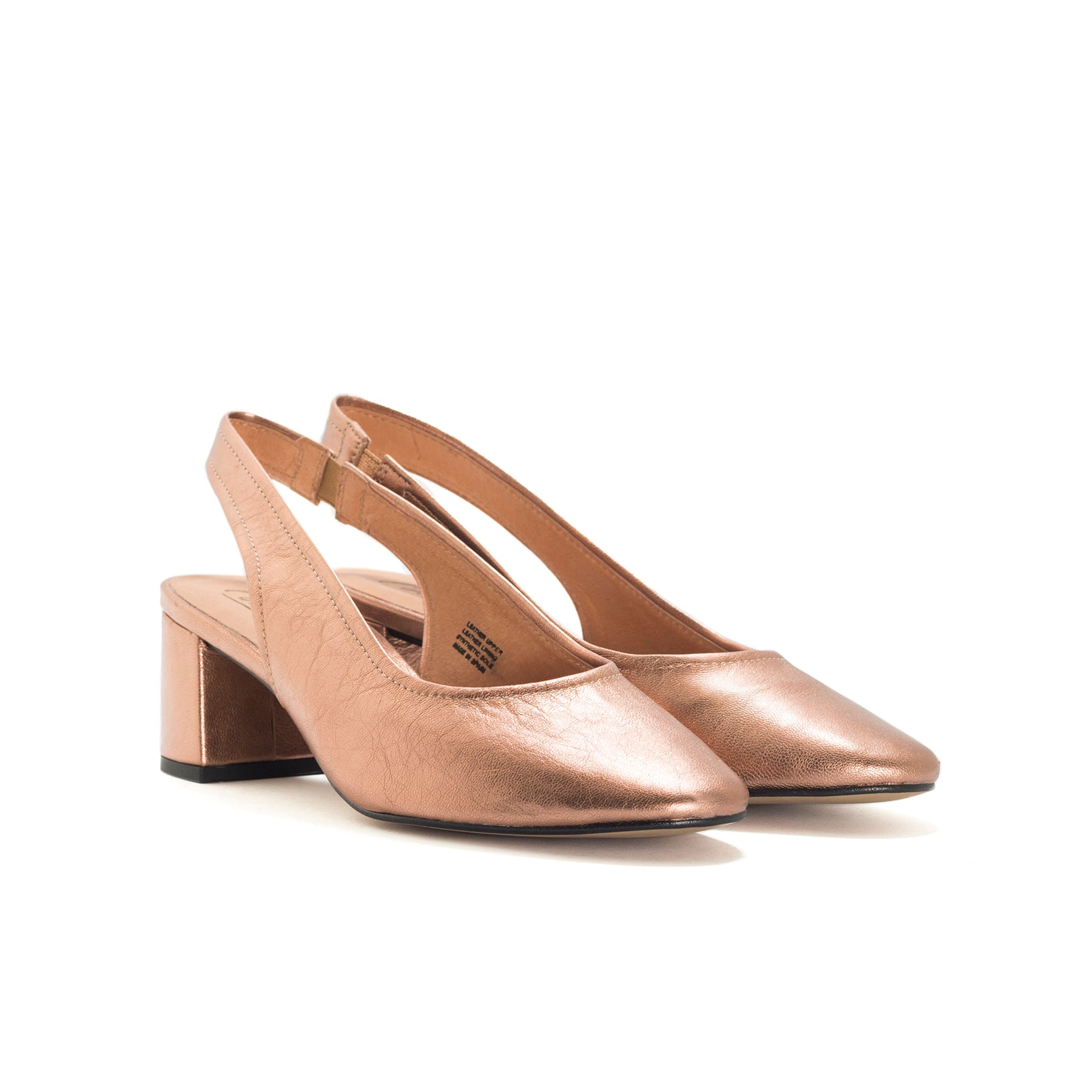 Juros Cooper Metallic Leather Pumps