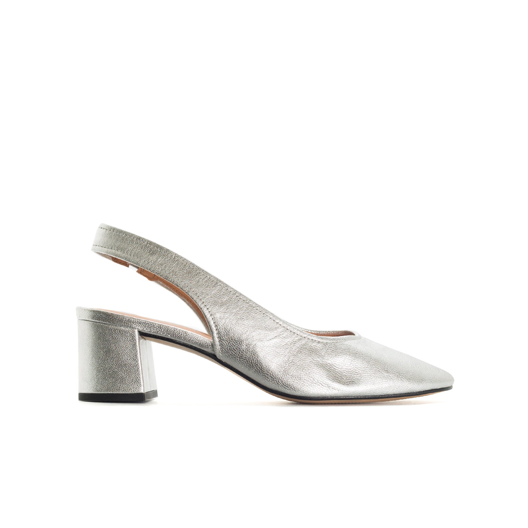 Juros Silver Metallic Leather Pumps