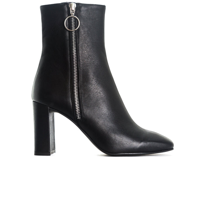 Kastoria Black Leather Booties