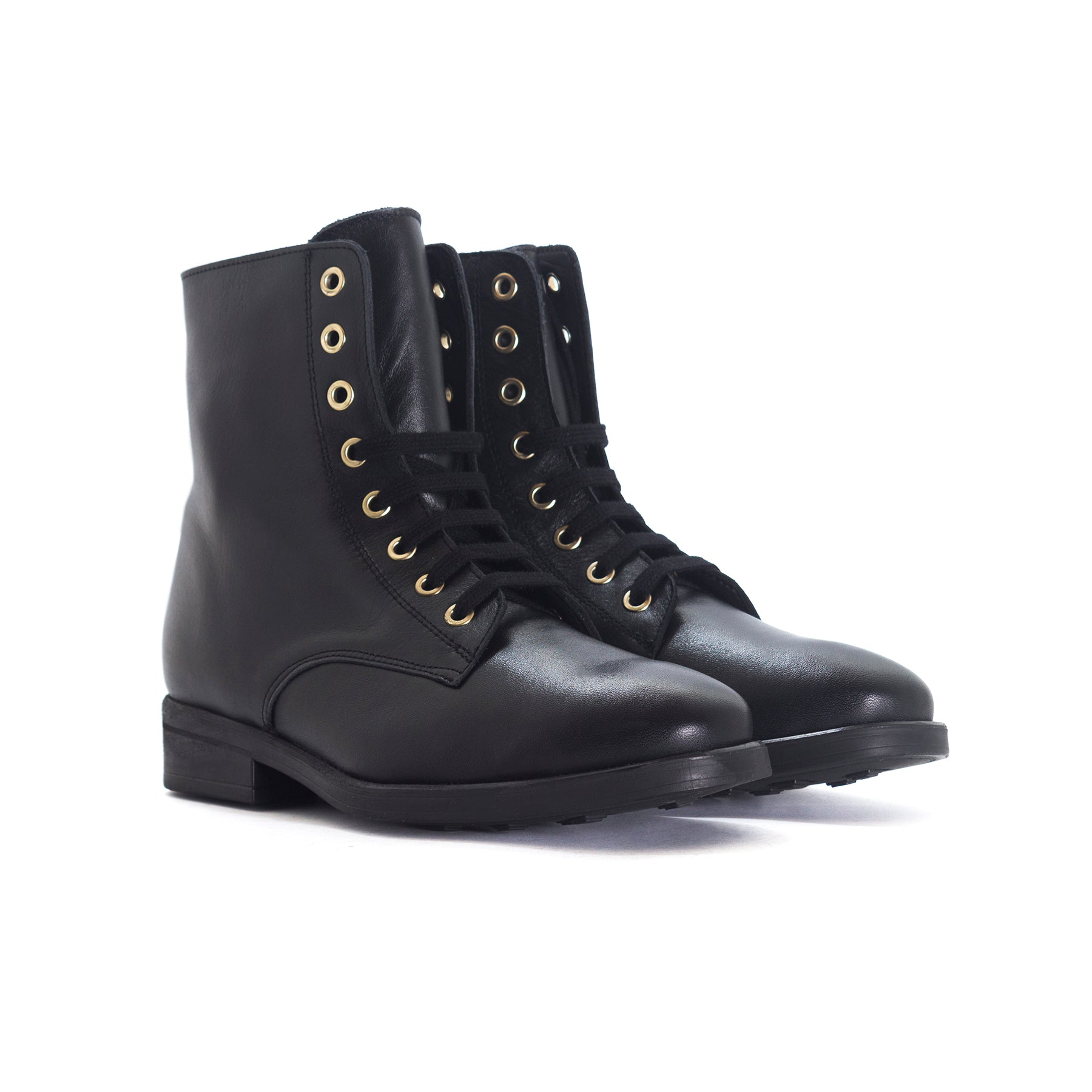 Kazan Black Leather Booties