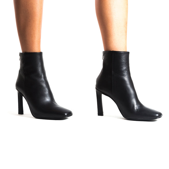 Lavrio Black Leather Booties