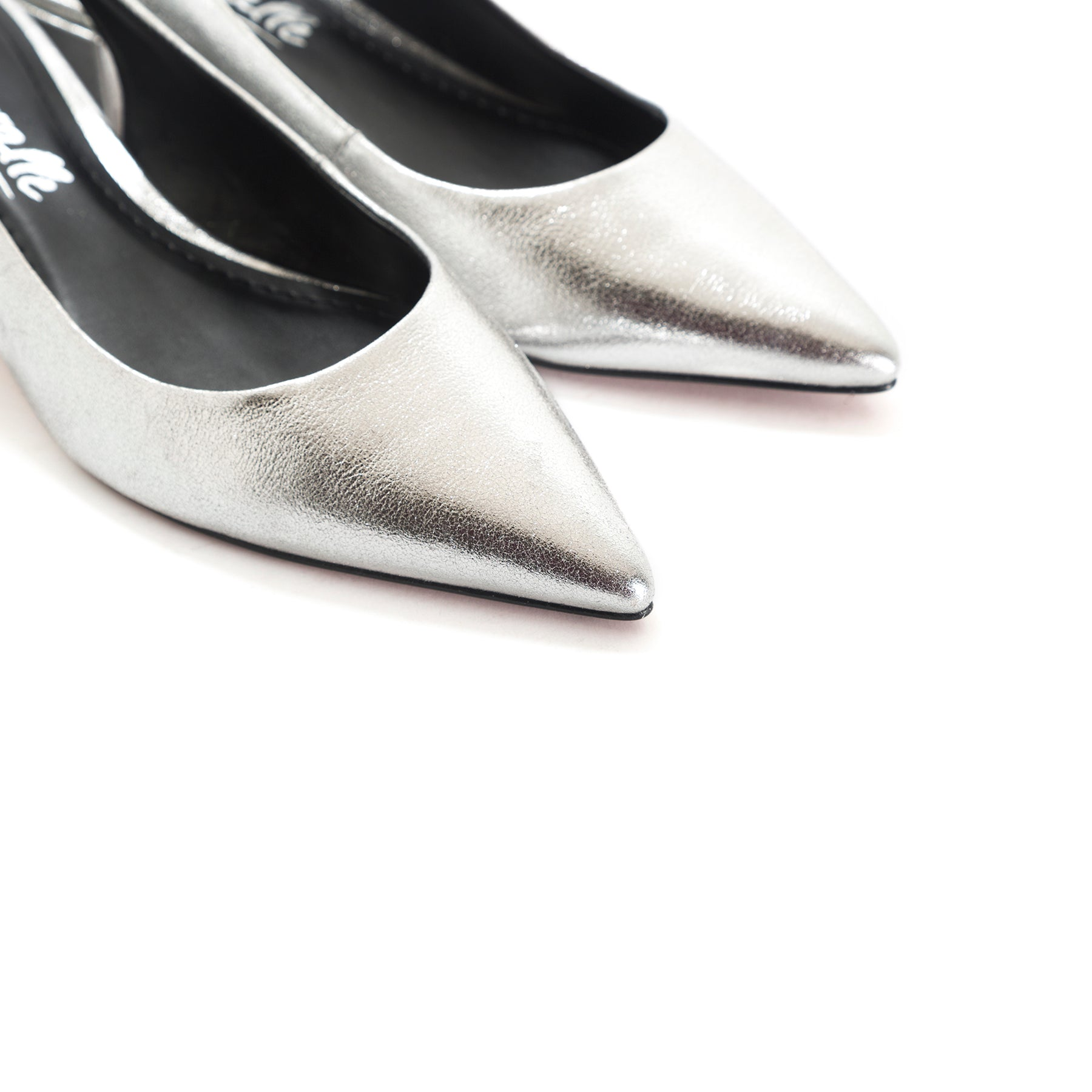 Lilian Silver Metallic Leather Pumps